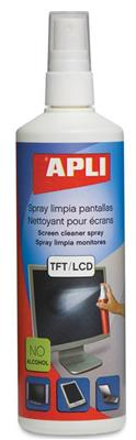 Apli spray limpia pantallas de 250ml
