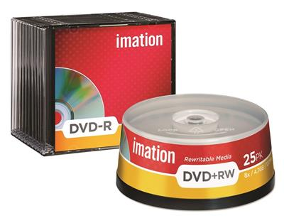 Imation spindle de 25 DVD+RW 4,7GB