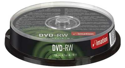 Imation spindle DVD-RW de 10 4,7 GB