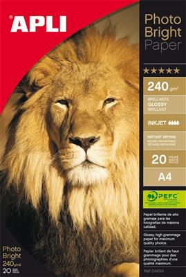 Apli papel photo bright 240gr A4