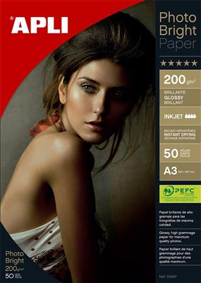 Apli papel photo bright 200gr A3