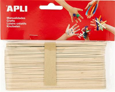 Apli palo polo jumbo natural de 150x18mm 40 unidades