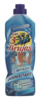 3 Brujas friegasuelos anti bacterias de 1 litro